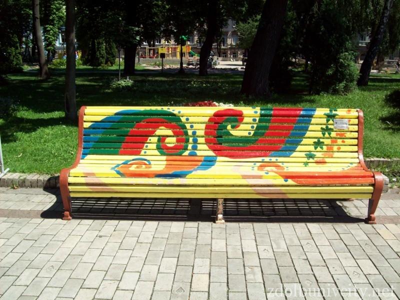 Рисунок на скамейке своими руками 23