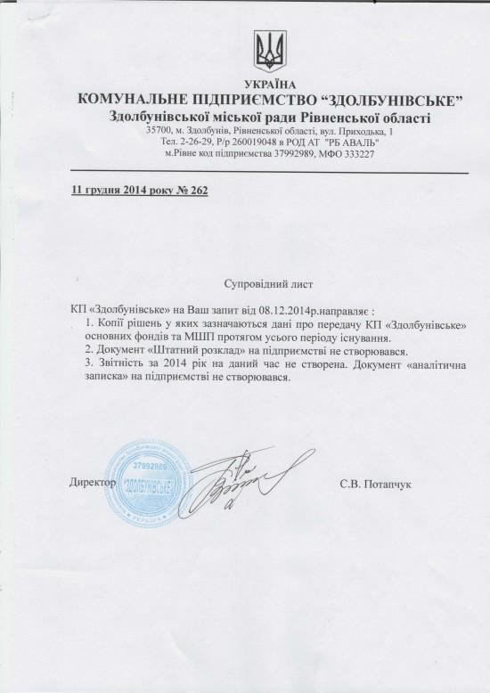 КП Здолбунівське ОФ (1)