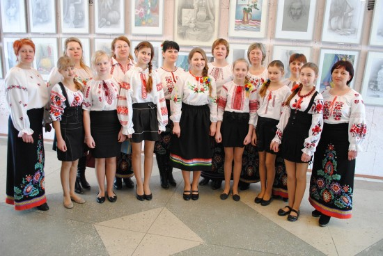 учасники вокальних колективів будинку культури с. Уїздці